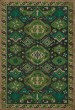Product Image of Outdoor / Indoor Cream, Green, Black (Thyme) Area Rug