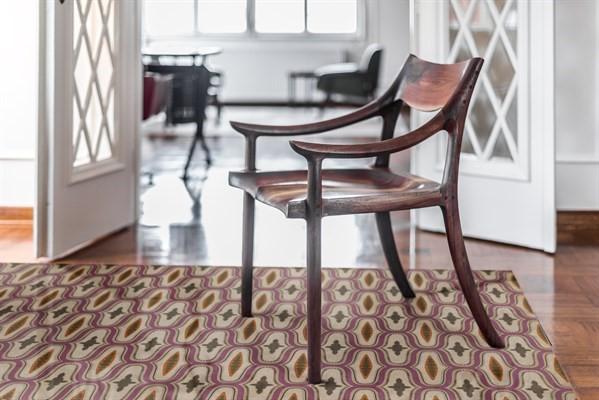 Beige, Purple, Brown (Voltaire) Outdoor / Indoor Area Rug