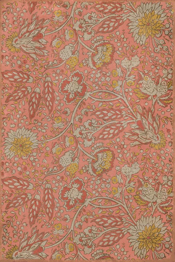 Pink, Yellow, Cream (Love and Folly) Outdoor / Indoor Area Rug