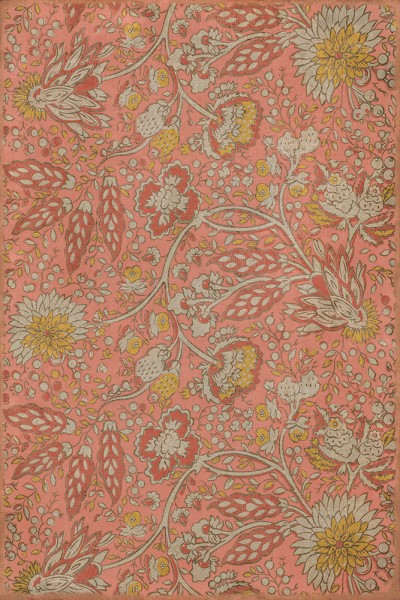 Pink, Yellow, Cream (Love and Folly) Floral / Botanical Area Rug