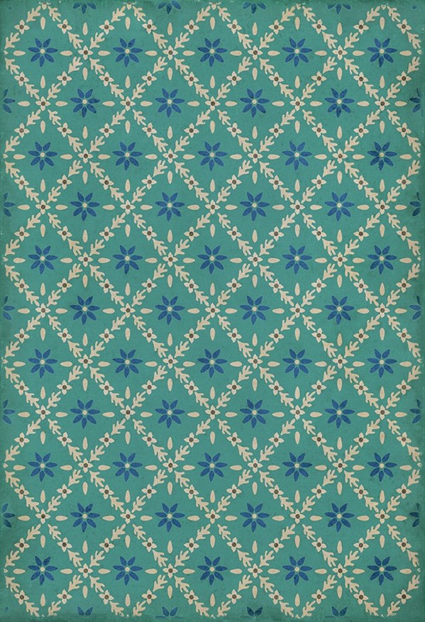 Blue, Cream (Bartram) Outdoor / Indoor Area Rug