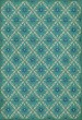 Product Image of Outdoor / Indoor Blue, Cream (Bartram) Area Rug