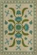 Product Image of Outdoor / Indoor Cream, Blue, Green (Azure Moss) Area Rug
