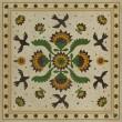 Product Image of Beige, Green, Mustard (Wild Bees Song) Outdoor / Indoor Area Rug