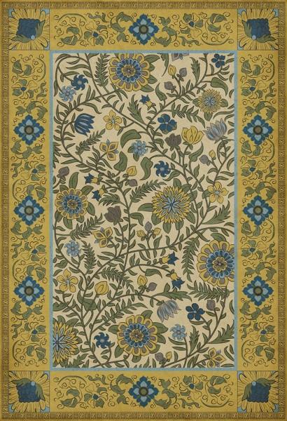 Gold, Green, Blue (Sanganer) Outdoor / Indoor Area Rug