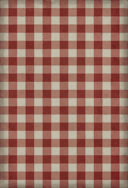 Red, Cream Country Area Rug