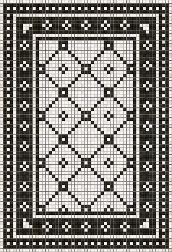 White, Black (Allerton Avenue) Outdoor / Indoor Area Rug