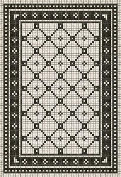 Ivory, Distressed Black (Allerton Avenue) Geometric Area Rug