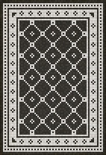 Distressed Black, Ivory (Elmhurst Avenue) Outdoor / Indoor Area Rug
