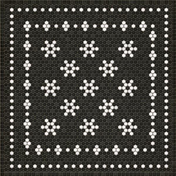 Spicher And Company Vintage Vinyl Floor Cloths Mosaic B Area Rugs