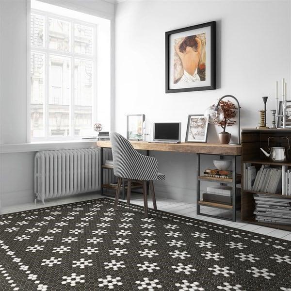 Vintage Vinyl Floor Cloths Mosaic B