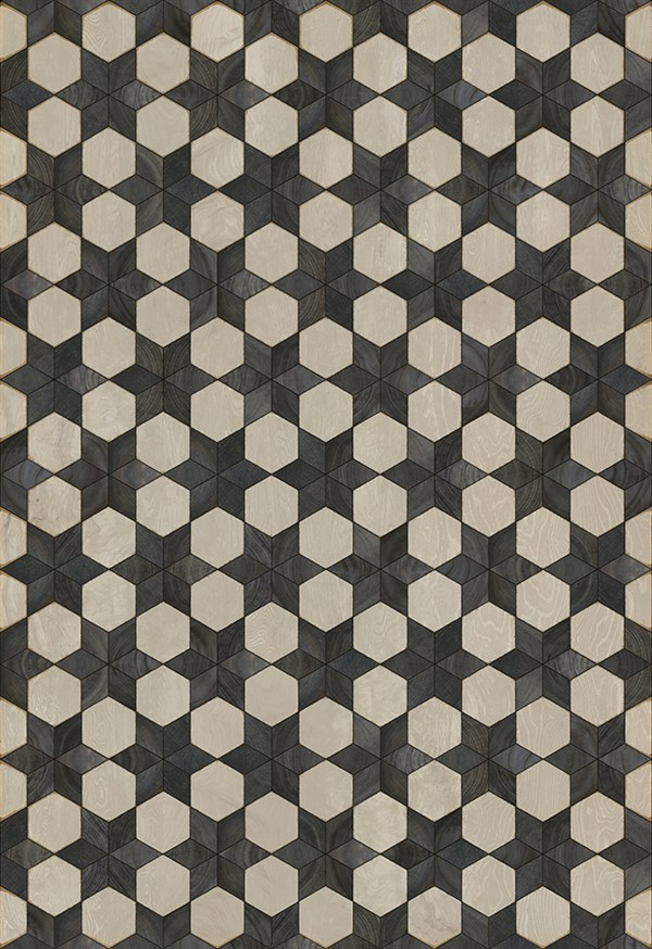 Cream, Black (Black Star) Outdoor / Indoor Area Rug