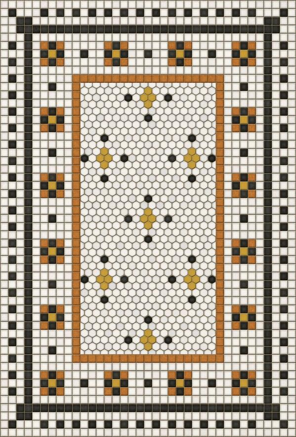Ivory, Black, Orange (Rawson Street) Outdoor / Indoor Area Rug