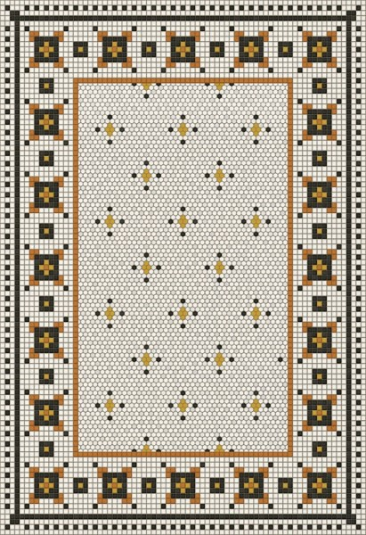 Ivory, Distressed Black, Orange (Rawson Street) Outdoor / Indoor Area Rug