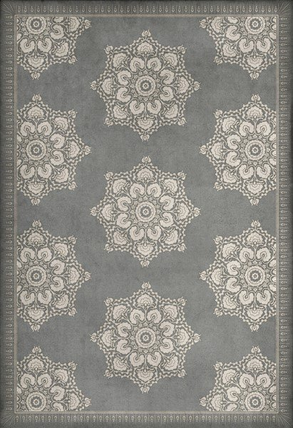Grey (Pewter and Flax) Outdoor / Indoor Area Rug