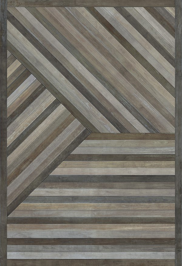 Grey (Mountains Come Out of the Sky) Outdoor / Indoor Area Rug