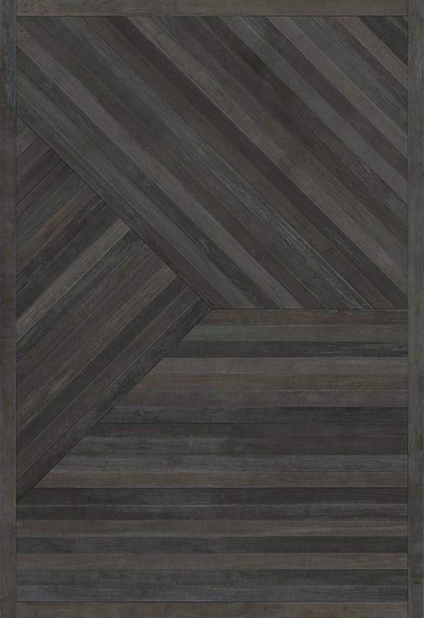 Black (Rings of Smoke) Outdoor / Indoor Area Rug