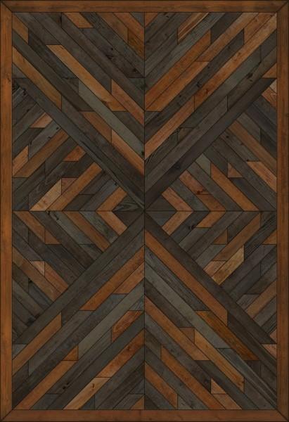Brown, Distressed Black (Beneath Vital Currents) Outdoor / Indoor Area Rug