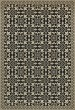 Product Image of Outdoor / Indoor Beige, Black (Gates of Horn and Ivory) Area Rug