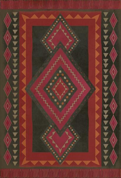 Black, Mauve, Pink (Gypsy) Outdoor / Indoor Area Rug