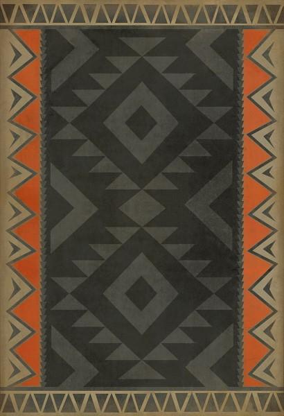 Black, Orange, Cream (Nomad) Outdoor / Indoor Area Rug