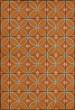 Product Image of Outdoor / Indoor Orange, Cream (My Illuminated Soul) Area Rug