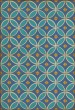Product Image of Outdoor / Indoor Blue, Cream, Gold (Sunday Morning Hues) Area Rug