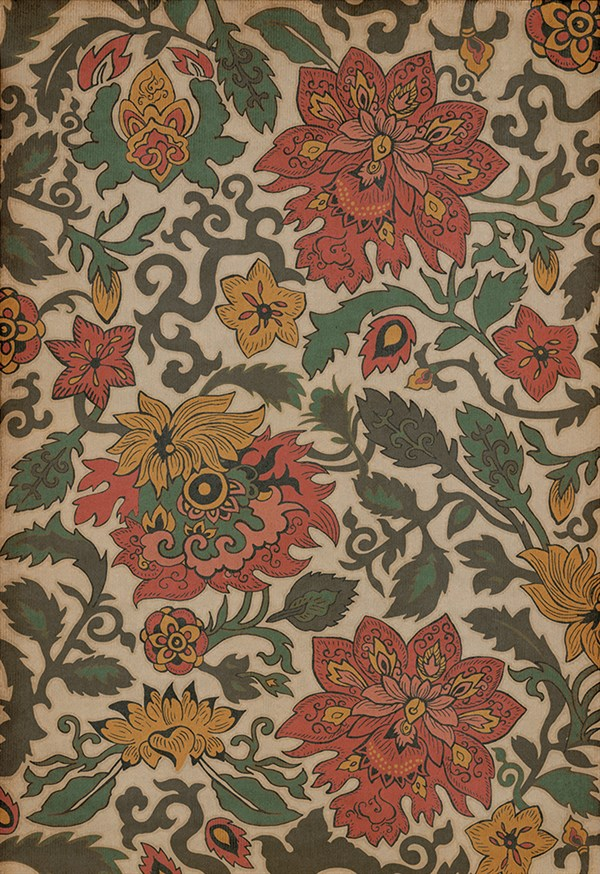 Cream, Green, Red (Pacific Ring of Fire) Outdoor / Indoor Area Rug