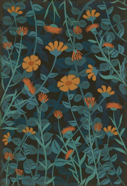 Blue, Orange (Doodlebug) Outdoor / Indoor Area Rug
