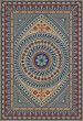 Product Image of Outdoor / Indoor Cream, Blue, Red (Be Grateful) Area Rug