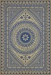 Product Image of Outdoor / Indoor Cream, Blue (Live Without Sorrow) Area Rug