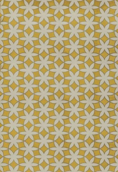 Yellow, Cream (Guys and Dolls) Geometric Area Rug
