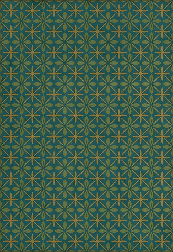 Blue, Green, Gold (The Garden Room) Outdoor / Indoor Area Rug