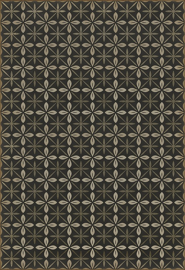 Black, Cream, Grey (The Transport Cafe) Outdoor / Indoor Area Rug
