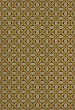 Product Image of Outdoor / Indoor Gold, Cream, Black (Canary Robb) Area Rug