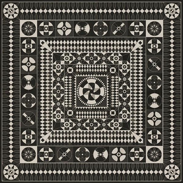 Black, Grey (War and Peace) Outdoor / Indoor Area Rug