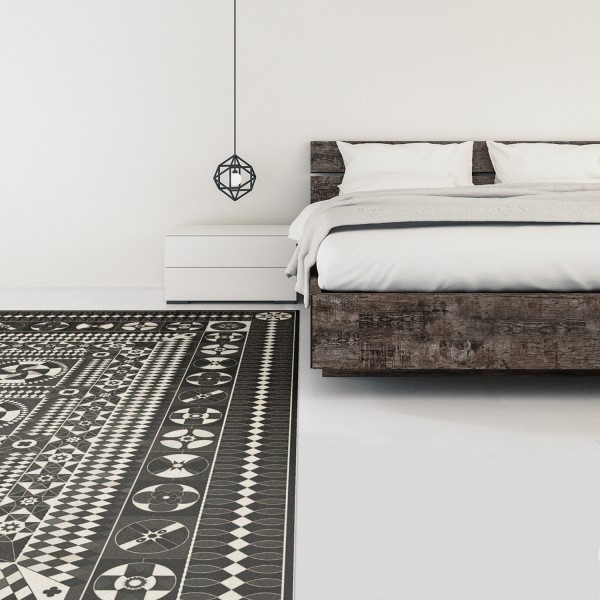 Distressed Black, Distressed Grey (War and Peace) Outdoor / Indoor Area Rug