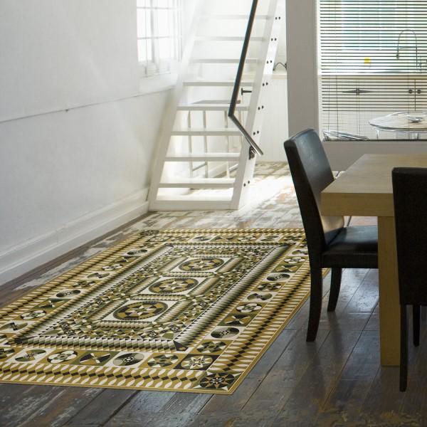 Yellow, Black, Green (Wisdom and Truth) Outdoor / Indoor Area Rug