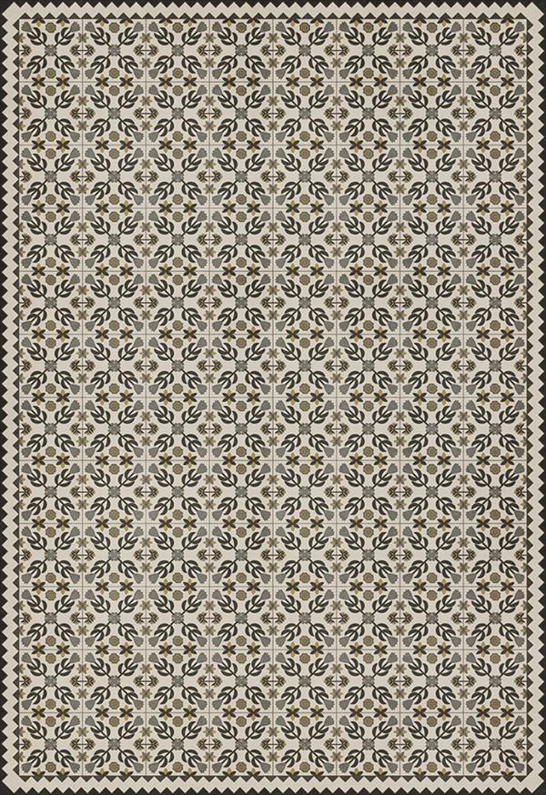 Black, Beige, Yellow (A Field of Cotton) Outdoor / Indoor Area Rug