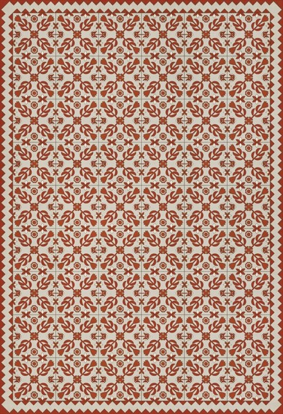 Beige, Red (This Old Village) Outdoor / Indoor Area Rug