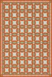 Product Image of Outdoor / Indoor Orange, Green, Beige (Dorothea) Area Rug