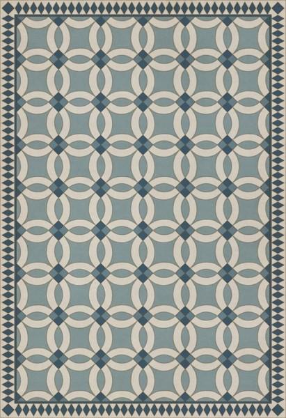 Blue, Beige (Evangeline) Contemporary / Modern Area Rug