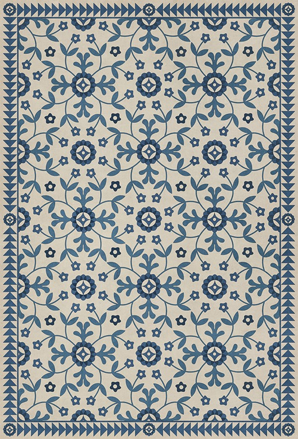 Beige, Blue (The Day Has Eyes) Outdoor / Indoor Area Rug