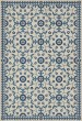Product Image of Outdoor / Indoor Beige, Blue (The Day Has Eyes) Area Rug