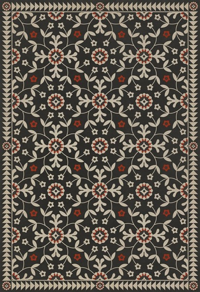 Distressed Black, Beige, Red (Time Takes It All) Outdoor / Indoor Area Rug