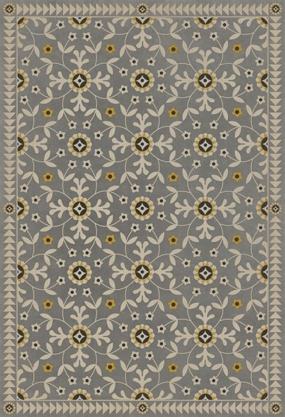 Grey, Beige, Yellow (When Others Soundly Slept) Outdoor / Indoor Area Rug