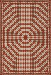 Product Image of Outdoor / Indoor Red, Beige (What Makes Your Heart Beat) Area Rug