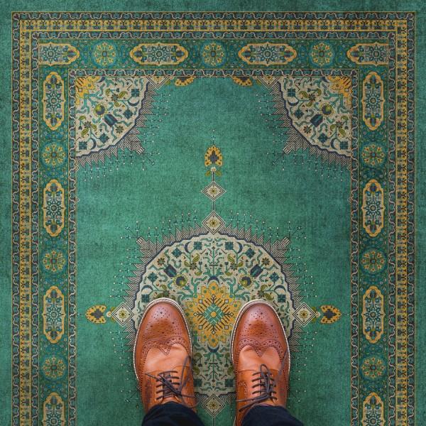 Turquoise (Avesta) Outdoor / Indoor Area Rug