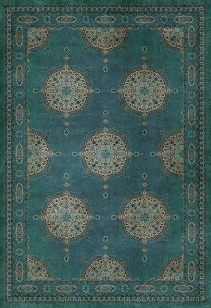 Distressed Blue (Govad) Bohemian Area Rug