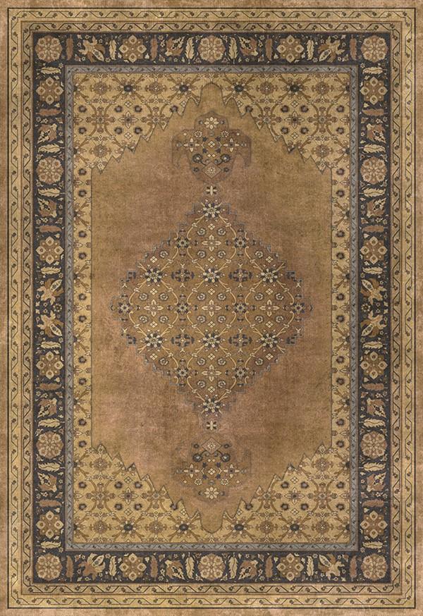 Brown, Gold, Black (Jahan) Outdoor / Indoor Area Rug
